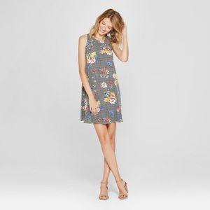 Target Floral Print Gingham Swing Dress